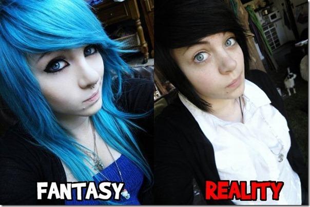 Fantasia vs Realidade