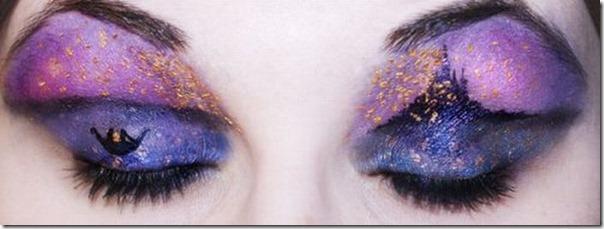 Linda maquiagem nos olhos em forma de sombra (4)