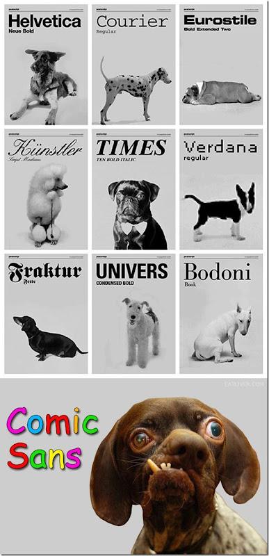 E se as fontes fossem inspiradas em cachorros