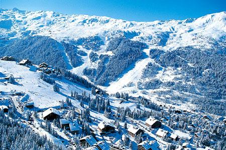 Mounting skiing resorts of France