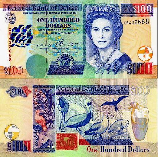 Belize One Hundred Dollars