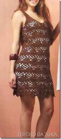 hj vestido marrom