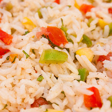 Colorful Rice Salad With Lemon Dressing