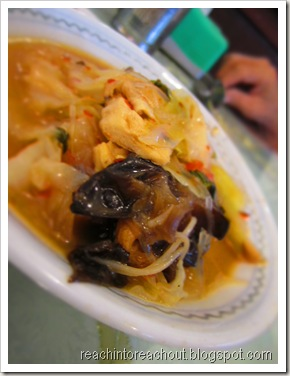 Vegetable + Black fungus :)