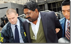 Raj Rajaratnam doing the perp walk