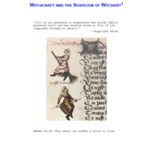 Witchcraft And The Suspicion Of Witchery Cover