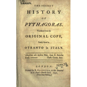 The Secret History Of Pythagoras Cover
