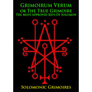 Grimoirum Verum Or The True Grimoire The Most Approved Keys Of Solomon Cover