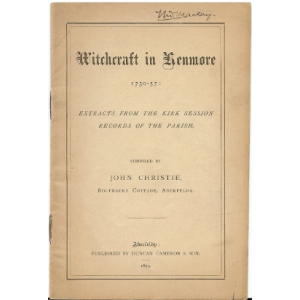 Witchcraft In Kenmore From 1730 To 1757 Cover