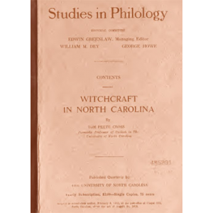 Witchcraft In North Carolina Cover
