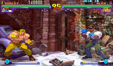 Street Fighter III - Alex vs Dudley