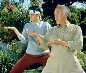 Daniel-San e o Sr. Miyagi