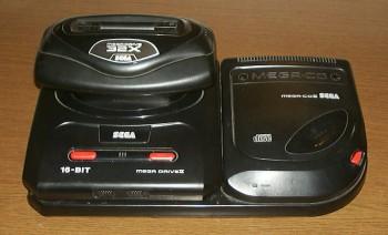Mega Drive II com Sega-CD II e Sega 32X