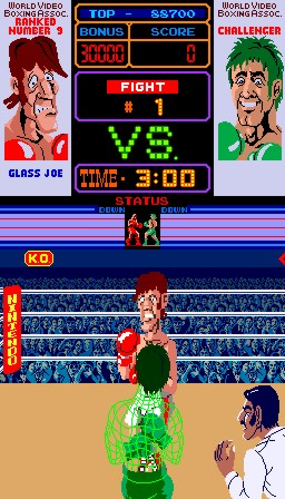 Challenger vs Glass Joe (Arcade)