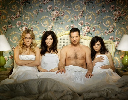 Big Love cast in bed