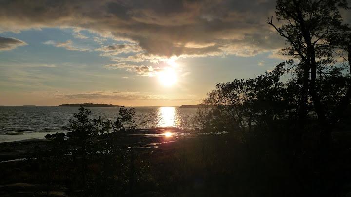 Coucher de soleil sur Harakka