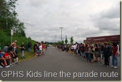 The high schoolers lined up again for LCE parade