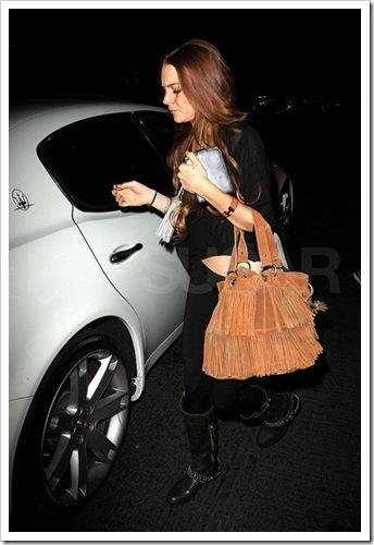 fringe purse lindsay lohan