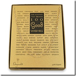 100 good wishes gold