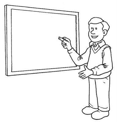 dibujo profesor: