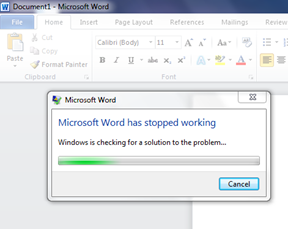 "Word 2010 crashes: ""Microsoft Word has stopped working"""