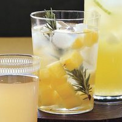 Breathe Easy Pineapple-Rosemary Water
