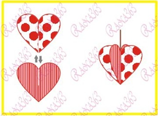 3d-valentine-paper-craft-step-2