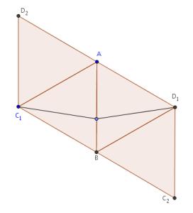 Tetraedro desplegado