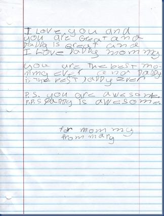 marys letter