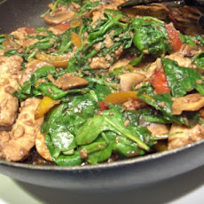 Stir Fry- Chicken With Lemon Mushroom Ginger Sauce