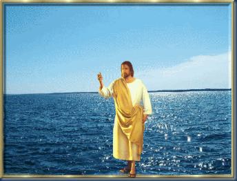 jesus sobre a água