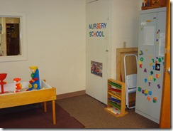 Mirror, Sensory Table, and Closet