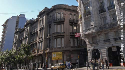 Example of Italian Eclecticism a typical Architecture Style of the San Telmo Neighborhood Seen at the Corner of Defensa and Independencia Avenue in Buenos Aires, Argentina