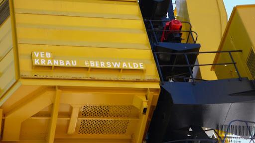 Yellow Crane from VEB Kranbau Eberswalde in Puerto Madero, Buenos Aires
