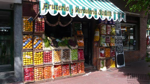 Small fruits and vegetable store in San Telmo in Buenos Aires, Argentina
