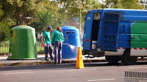 The Cleaning Guys Removing Unwanted Posters and Stickers near the Palacio del Congreso Nacional in Buenos Aires, Argentina