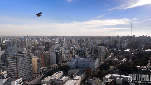 Amazing View from above on Buenos Aires Facing North-West to Colegiales and Parts of Palermo, Argentina