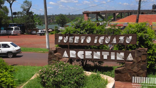 The Official Welcome Billboard of Puerto Iguazú, Argentina
