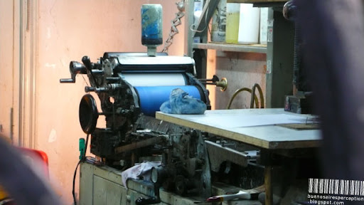 Sustainability the Argentinian Way: Old Printing Press in Buenos Aires, Argentina