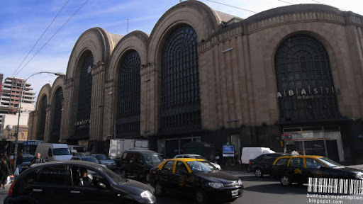 Impressive Art Deco Facade of the Shopping Mall Abasto de Buenos Aires, Argentina
