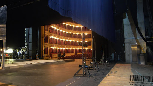 Behind the Scenes in the Solís Theatre, Backstage Area of the Montevideo Opera House, Uruguay