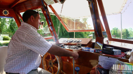 Lancha Colectivo, Captain of a Classic Wooden Passenger Boat in Tigre near Buenos Aires, Argentina