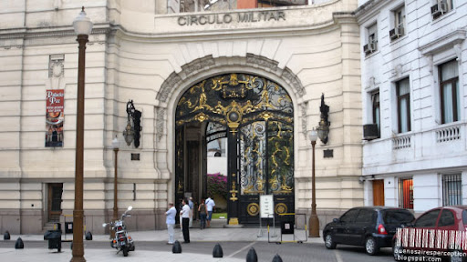 Doorway of the Círculo Militar formerly known as Palacio Paz in Retiro Buenos Aires, Argentina