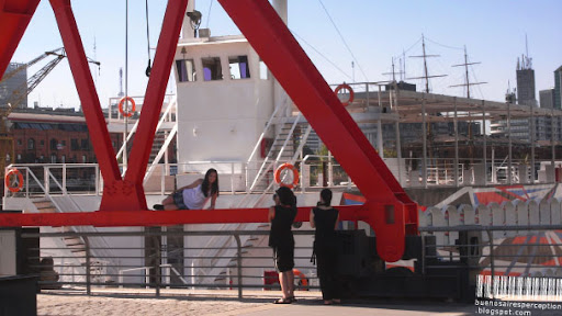 Photo Shooting at the docks of Puerto Madero in Buenos Aires, Argentina