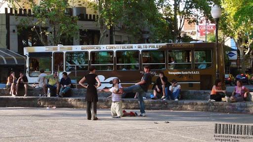 Performance at Plaza Serrano in Palermo Soho Buenos Aires, Argentina