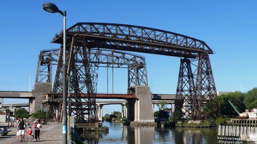 La Boca Bridge aka Puente Transbordador de La Boca in Buenos Aires, Argentina