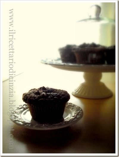 Muffin al cioccolato con pezzi di cioccolato