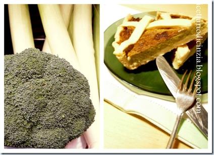 Torta salata broccoli porro e philadelphia