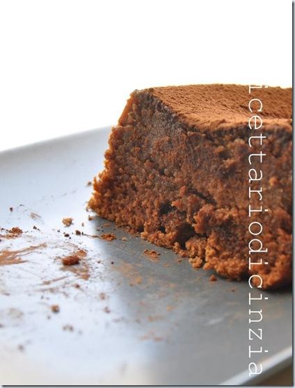 Torta densa al cioccolato