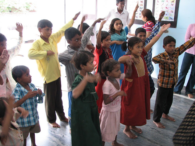 Unnati children learning to dance